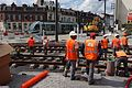 Anzin & Valenciennes - Travaux de raccordement des lignes A & B du tramway de Valenciennes à la Croix d'Anzin le 19 août 2013 (27).JPG