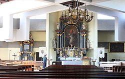 Apetlon (Seewinkel), the village church, inner view.JPG
