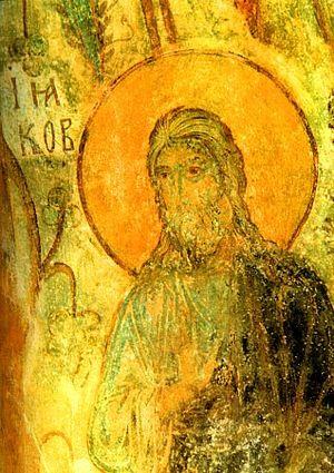 James, son of Alphaeus - Fresco of Saint James the Less in the Orthodox Church of Vladimir, Russia. 12th century.