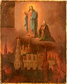 Apparition of Virgin and S.Sergius during Moscow fire (c.1831, V.M.Fedotov coll)..jpg