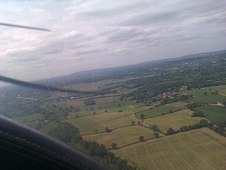 Redhill Aerodrome - Approaching Redhill to land in a Piper Cherokee