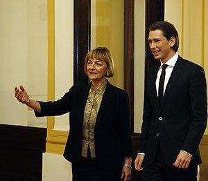 Vesna Pusić - Austrian Foreign Minister Sebastian Kurz and Croatian Foreign Minister Vesna Pusić in December 2013