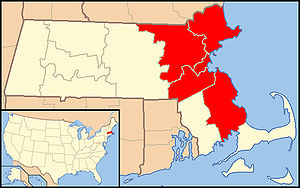 Roman Catholic Archdiocese of Boston - Image: Archdiocese of Boston map 1