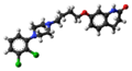 Aripiprazole molecule from xtal ball.png