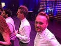 Arjen Lubach with Josh Meyers at Boom Chicago's 25th anniversary at Carre.jpg