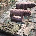 Armenian khachkar and ram stone from Tbilisi museum.jpg