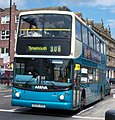 Arriva bus 7430 Dennis Trident Alexander ALX400 W395 RBB in Newcastle 9 May 2009.jpg