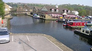 Huddersfield Broad Canal - Aspley Basin, near the junction between the Broad and Narrow canals