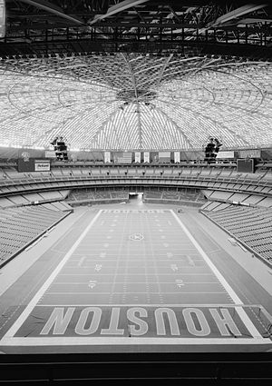 History of the Houston Oilers - The now-abandoned Astrodome, which was the home of the Houston Astros, had football turf still intact after the Oilers' departure