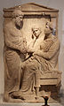 Atene, stele funebre dei cittadini coniugi thraseas e euandria, 350-340 ac ca.JPG
