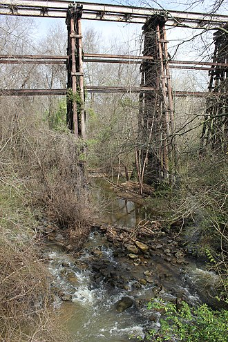 Murmur (album) - The train trestle from the cover has become a tourist destination, even in its dilapidated state
