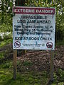 Auburn, WA - Whitney Bridge Park - log jam sign.jpg