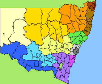 Local government areas of New South Wales - LGA Regions in New South Wales