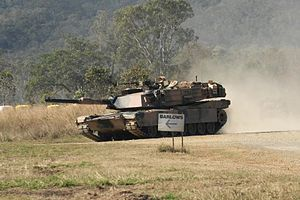 1st Armoured Regiment (Australia) - A 1st Armoured Regiment Abrams tank in 2011