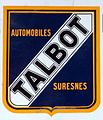 Automobiles Talbot Suresnes, Enamel advert sign at the den hartog ford museum pic-001 (cropped).JPG