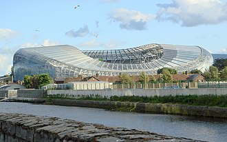Matches of the Republic of Ireland national football team - Home ground of the Irish football team at Lansdowne Road in Dublin