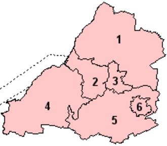 Avon (county) - Image: Avon 1974 Numbered