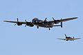 Avro Lancaster I & Supermarine Spitfire MkIIa 1 (5968835926).jpg
