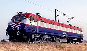 Bharat Heavy Electricals - BHEL manufactured locomotive