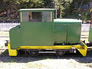 Blenheim Riverside Railway - George loco, other side view (pre-overhaul)
