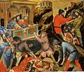 B Nicolò Semitecolo. St Sebastian Beaten with Sticks. 1367, Padova, Museo Diocesano.jpg