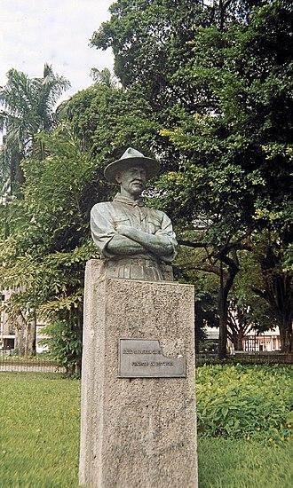 União dos Escoteiros do Brasil - A statue of Baden-Powell in Rio de Janeiro honors the founder of Scouting