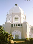 A white domed building