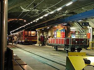 Jungfraujoch railway station - Image: Bahnhof Jungfraujoch