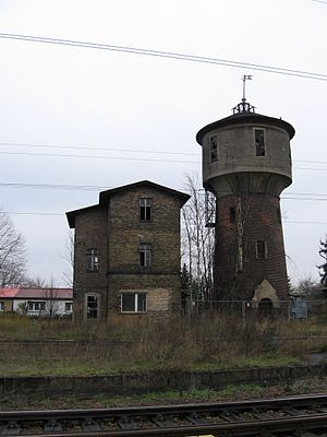 Berlin Northern Railway - Water tower at Löwenberg station