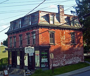 National Register of Historic Places listings in Dutchess County, New York - Image: Bain Commercial Building, Wappingers Falls, NY