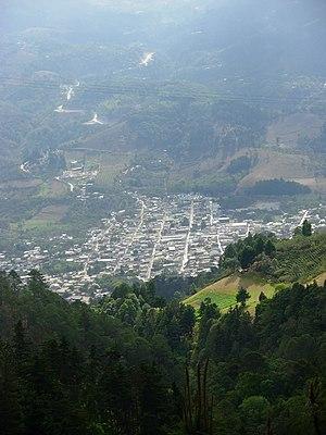 Mataquescuintla - Mataquescuintla seen from Miramundo and Pino Dulce