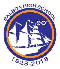 Balboa High School's official 90th Anniversary Logo.png