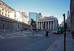 Bank of England and Royal Exchange, City of London EC3 - geograph.org.uk - 1077399