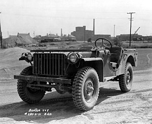106th Cavalry Regiment - The Bantam Jeep came in many configurations. The 106th Bantam vehicles were equipped with .30 caliber machine guns or mortars.