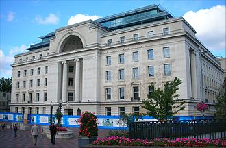 Baskerville House - Front of Baskerville House during refurbishment in 2006 before work on the Library of Birmingham began