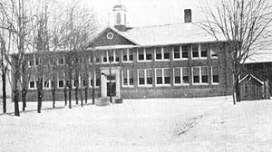 Bath School disaster - Bath Consolidated School before the bombing.