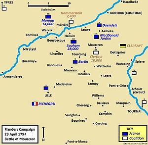 Battle of Mouscron - Battle of Mouscron, 29 April 1794, part of the Flanders Campaign