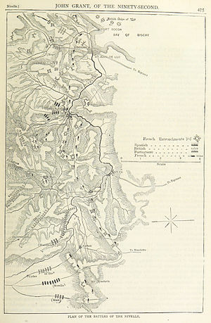 Battle of Nivelle - A map of the battle
