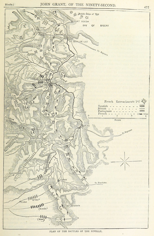 Battle of Nivelle map