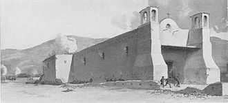 Siege of Pueblo de Taos - The death of John Burgwin at the Siege of Taos.
