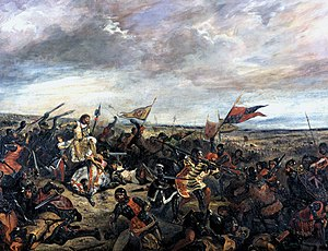 The Battle of Poitiers (1356) af Eugène Delacroix