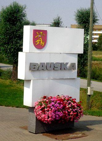 Bauska - Bauska sign, Latvia