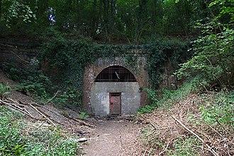 Cranleigh line - Baynards Tunnel southern portal in 2005