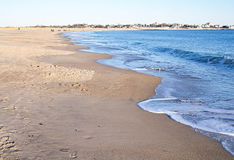 Beach cusps - Beach cusps in Westerly, Rhode Island