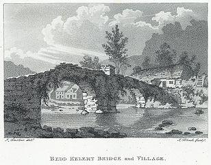 Bedd kelert Beddgelert bridge and village
