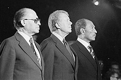 Begin, Carter and Sadat concluded a peace treaty in 1978
