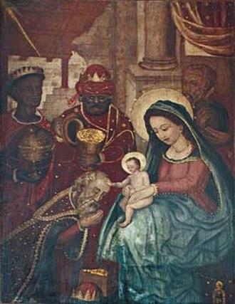 Brazilian painting - Belchior Paulo: Adoration of the Magi, Church of the Magi, Nova Almeida, Espírito Santo.