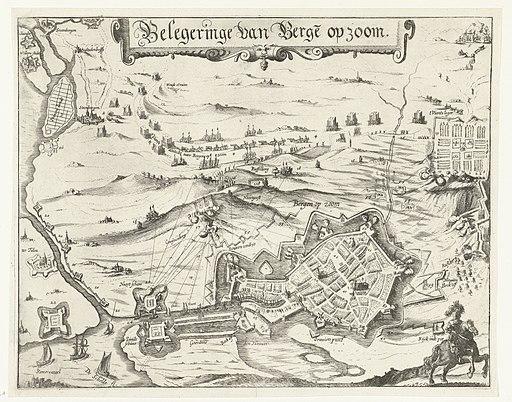Beleg van Bergen op Zoom, 1622 Belegeringe van Berge op zoom (titel op object), RP-P-OB-80.995A