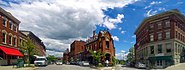 Belfast, ME Panoramic View from Post Office Square 2014
