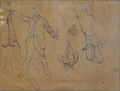Bellanger C. attr. - Graphite - Feuille d'études liées à la chasse - 14.4x18.8cm.jpg
